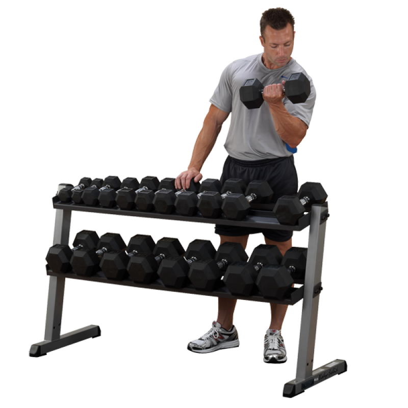2 Tier Horizontal Weight Rack