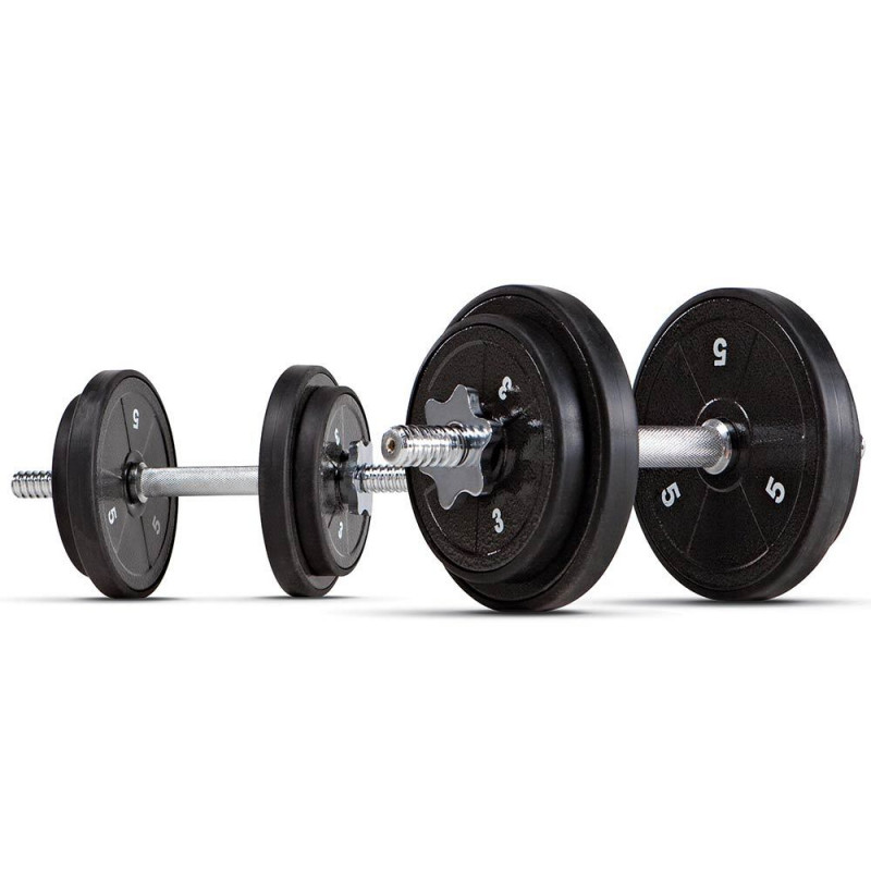 ECO Iron 40lb Adjustable Dumbbell Set with Carrying Case