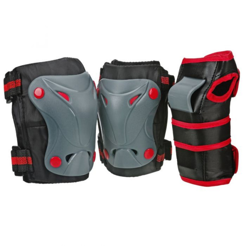 Boneshieldz Cruiser 3000 Tripack Black/Grey/Red Protective Gear
