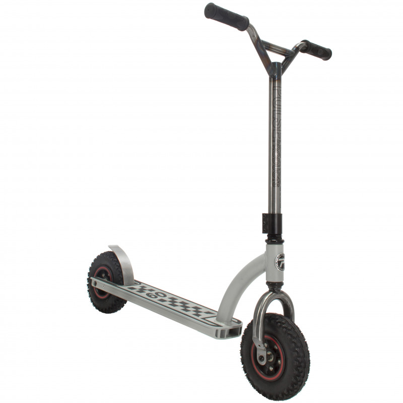 DX1 Freestyle Dirt Scooter, Steel and White