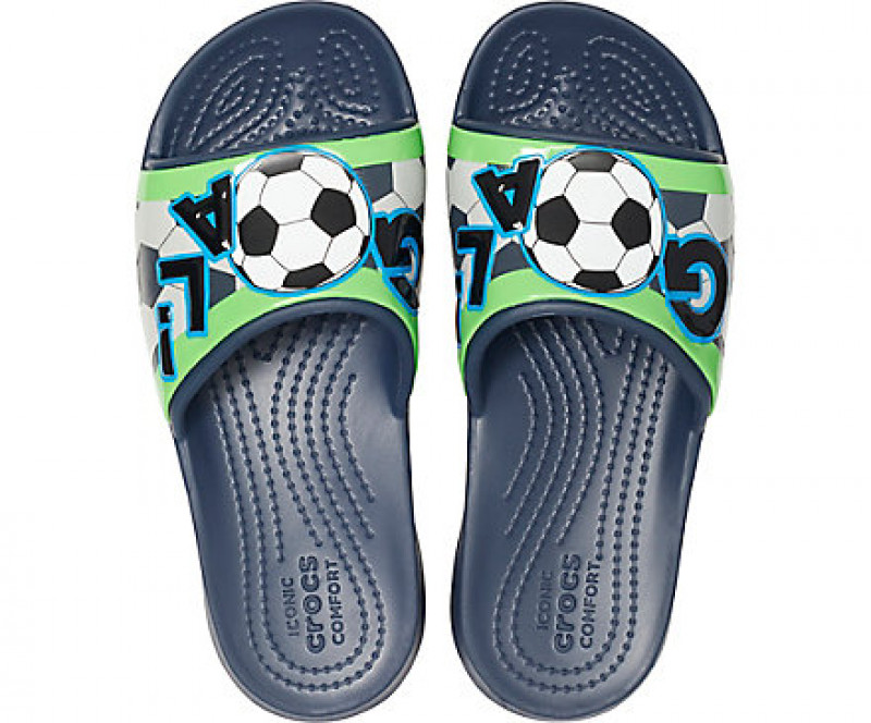 Kids' Crocs Fun Lab Sports Fan Slide