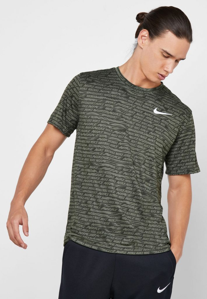 Nike Dri Fit Legend All Over Print Training Shirt