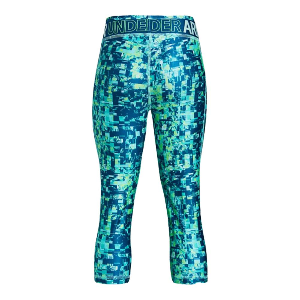Girls' HeatGear® Armour Printed Capris