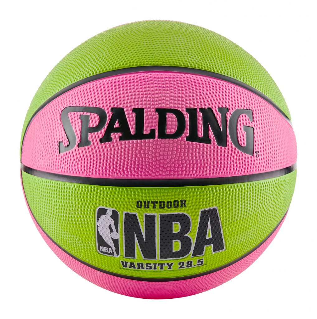 "Spalding NBA Varsity Basketball – Pink/Green (28.5"")"