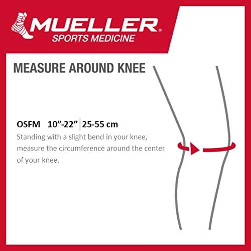 Mueller Jumper's Knee Strap, Black, One Size Fits Most | Single Strap Knee Brace