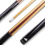 Mizerak 57″ House Cue (1 Piece) with 12mm Ferrule with Leather Tip, Hardwood Construction and High Gloss Finish