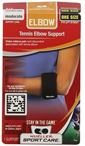 Mueller Sport Care Tennis Elbow Support One Size Black