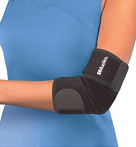 Mueller Adjustable Elbow Support, Neoprene, Black