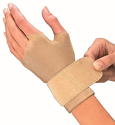 Mueller Compression Gloves, Beige, Pair