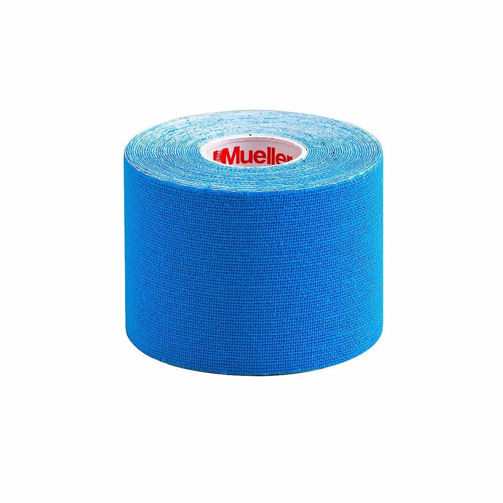Kinesiology Tape Mueller Water Resistant Cotton 2 Inch X 16-2/5 Foot Blue NonSterile