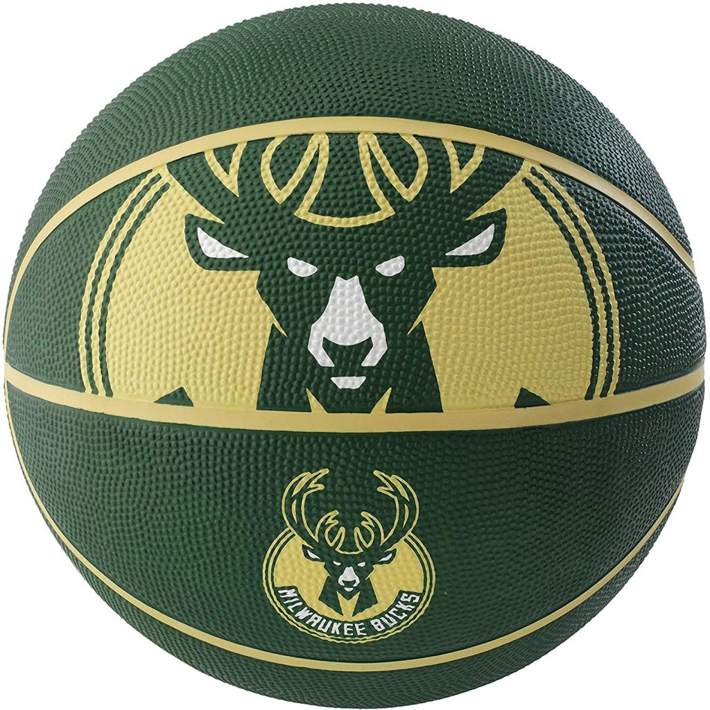 NBA Milwaukee Bucks Spaldingteam Logo, Green, 29.5″