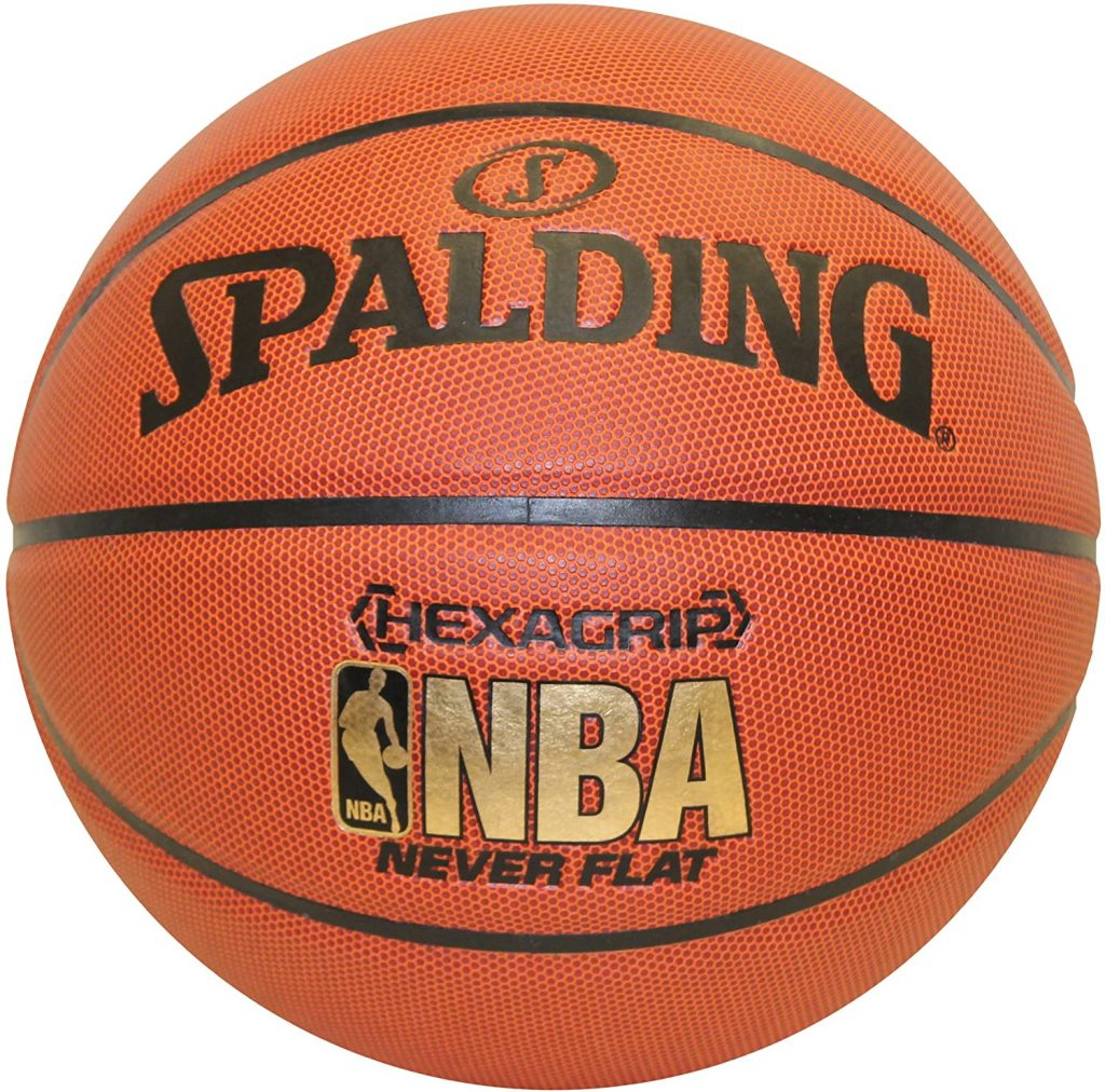 Spalding NeverFlat NBA Hexagrip Indoor/Outdoor Basketball, 29.5-Inch