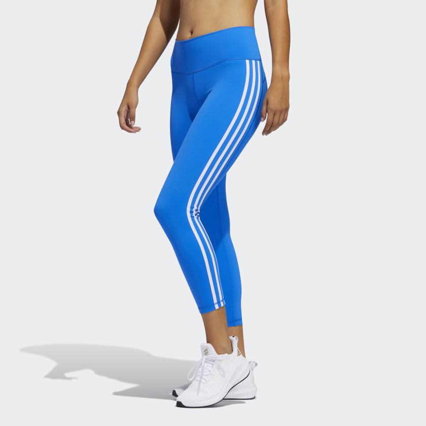 ADI BELIEVE THIS 3-STRIPES 7/8 TIGHTS (BLUE)