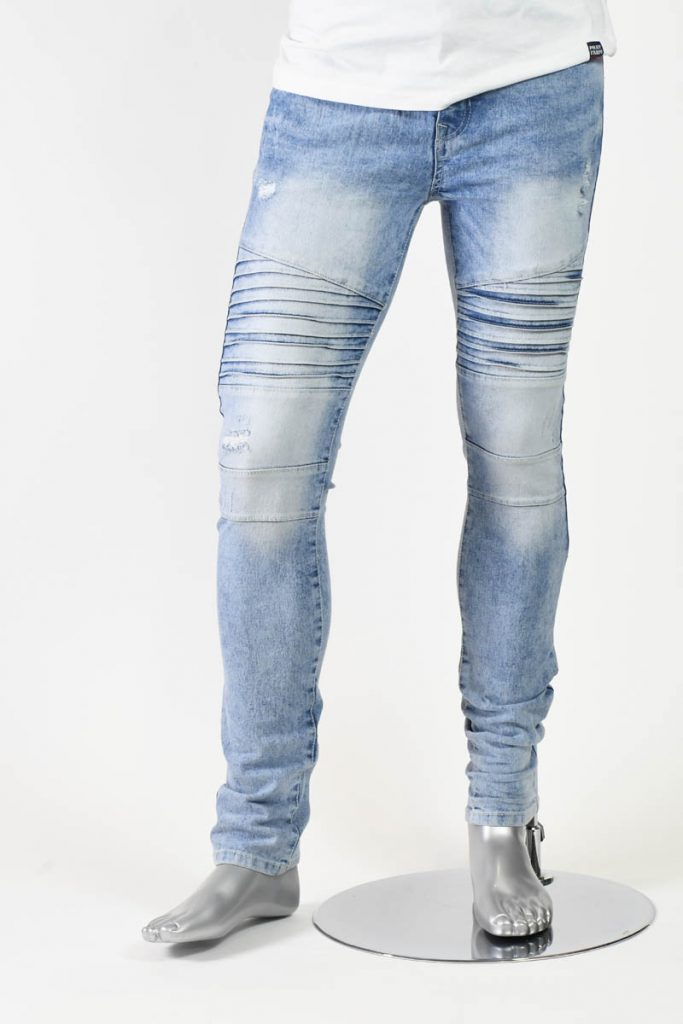 STRETCH BIKER DENIM