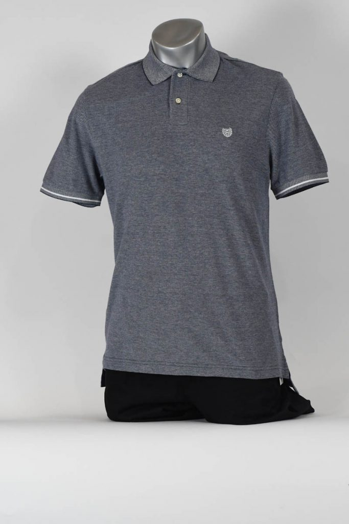 TIPPED SLEEVE COTTON POLO SHIRT
