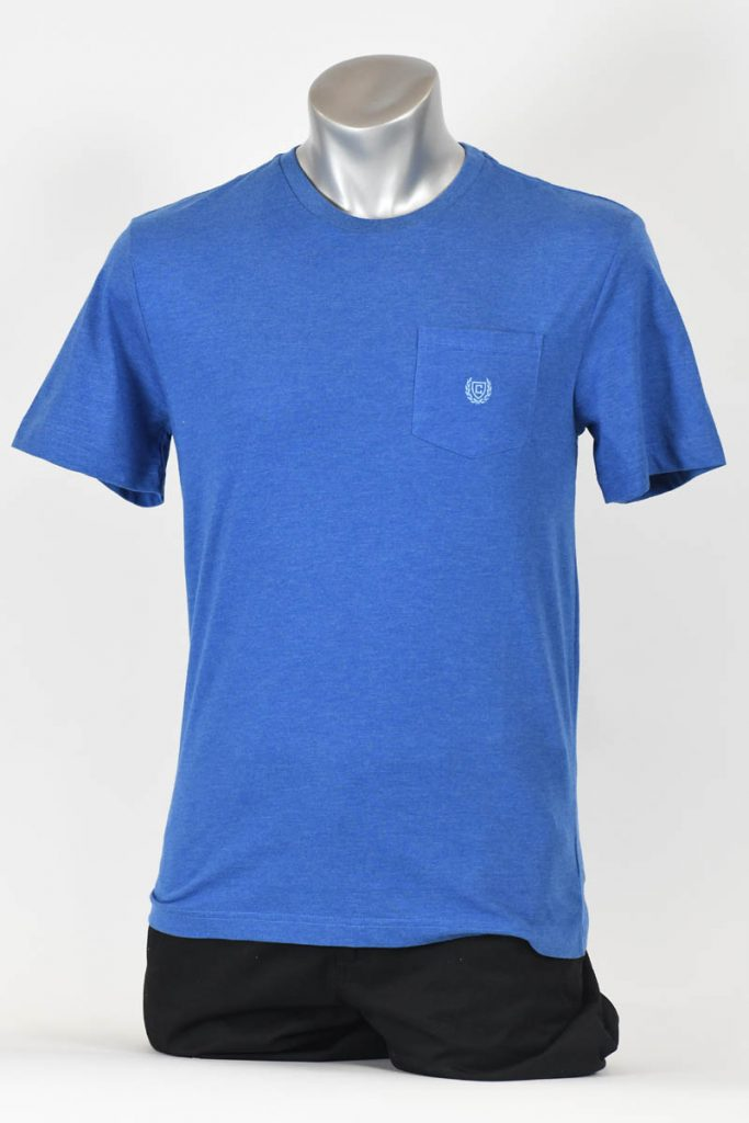 CHAPS CREW-NECK SHORT SLEEVED POCKET KNIT
