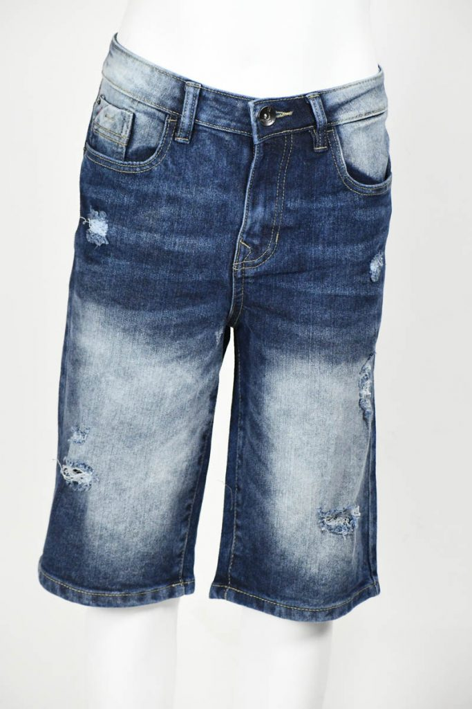 SPB Ripped Stretch Denim Shorts