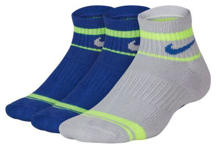 Nike Everyday Big Kids' Cushioned Ankle Socks (3 Pairs)
