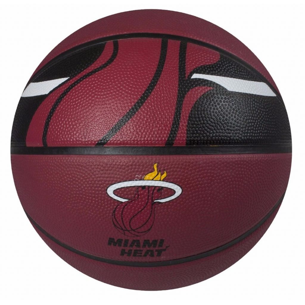 Spalding SP-73071 NBA Courtside Miami Heat 29.5″ Outdoor Rubber Basketball