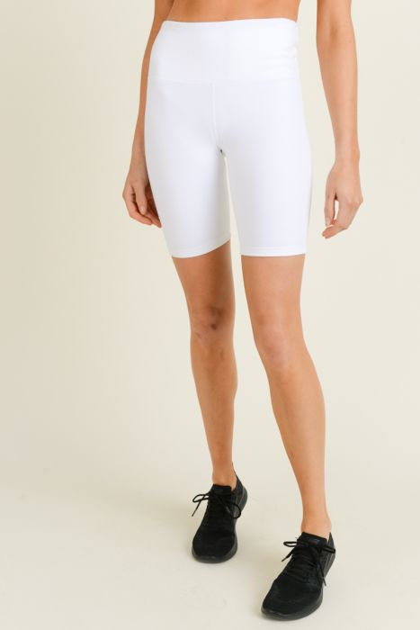 HighWaist Solid Short Bermuda Leggings