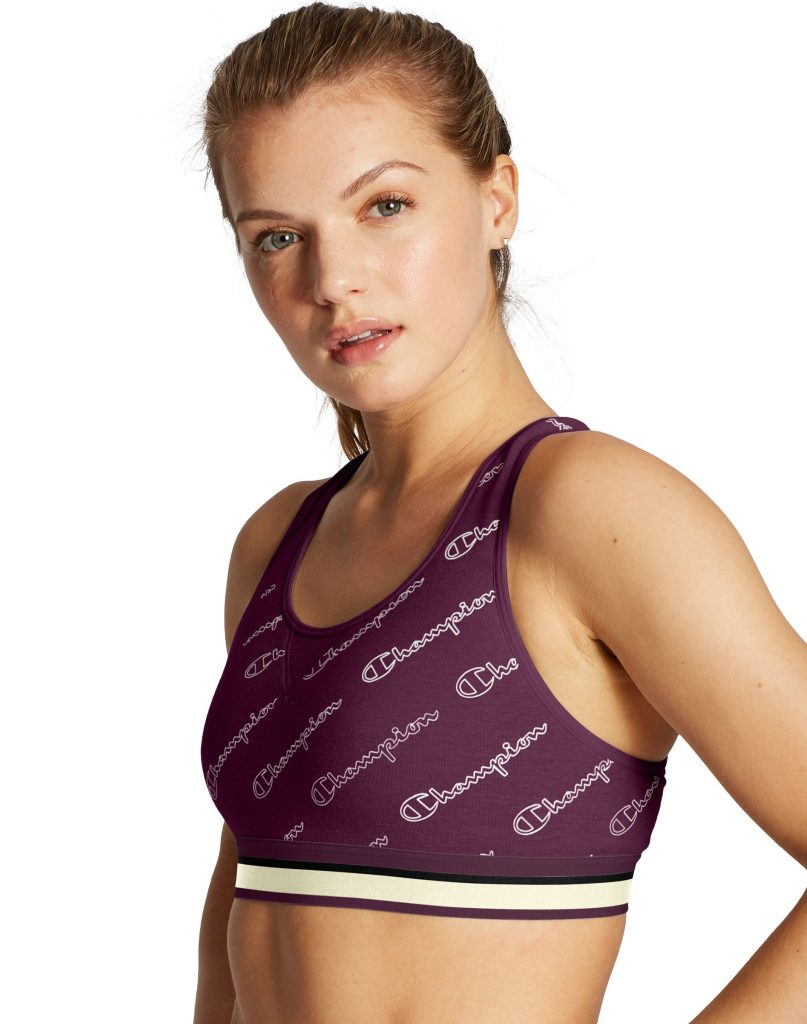The Authentic Sports Bra, All Over Logo