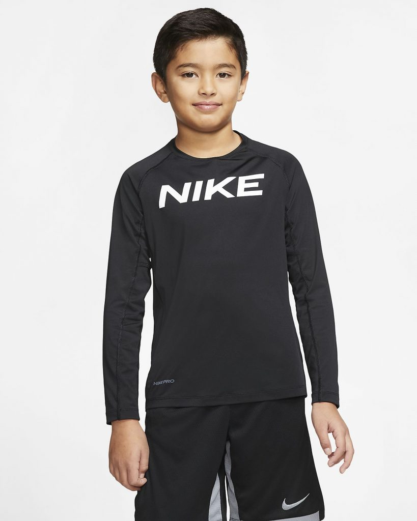 Nike Pro Boys Long Sleeve Training Top