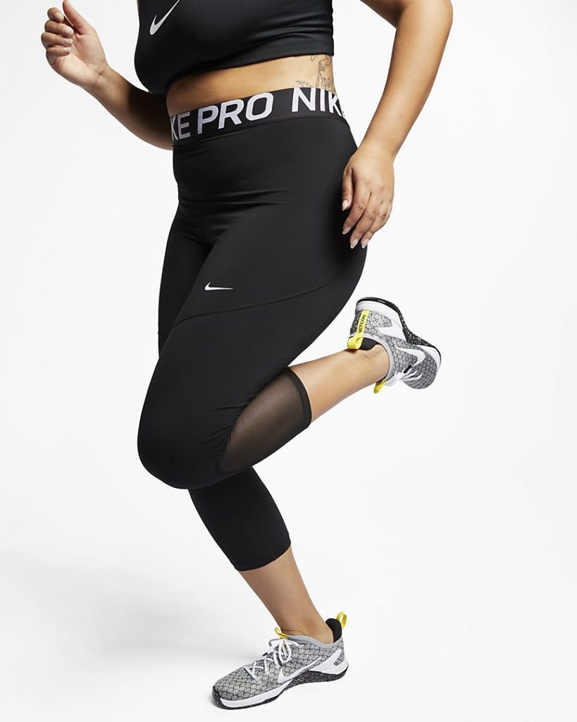 NIKE WOMENS CROPPED PRO TIGHT PLUS SIZE