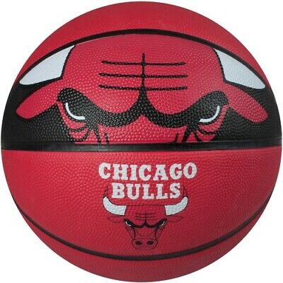 Spalding Chicago Bulls Courtside Rubber Basketball, Official Size 29.5″ – Red