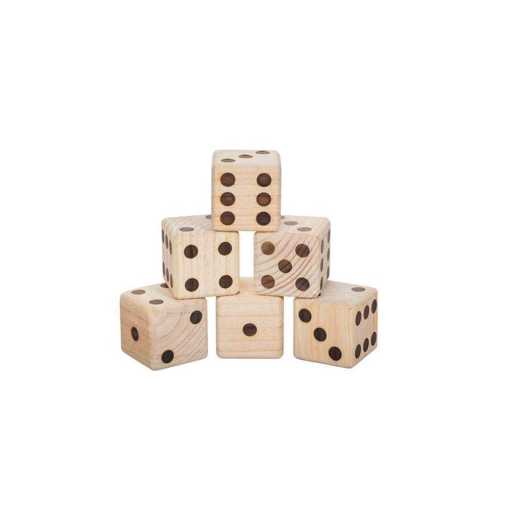 Triumph Big Roller Wooden Lawn Dice