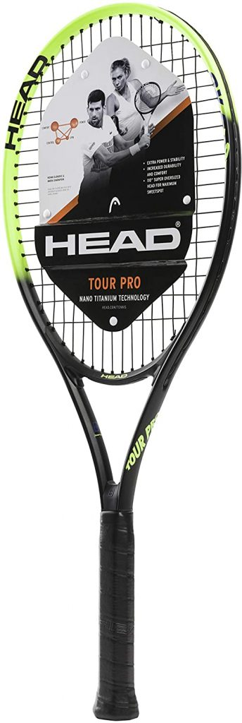 HEAD Tour Pro Tennis Racket – Pre-Strung Head Light Balance 27 Inch