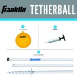 Franklin Sports Tetherball – Tetherball Ball, Rope and Pole Set – Portable Steel Tetherball Set with Easy Assembly – Classic Outdoor Game