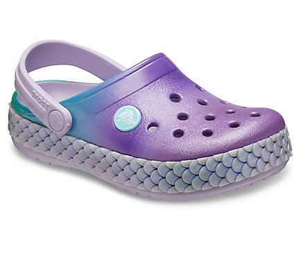KIDS' MERMAID METALLIC CROCBAND CLOG