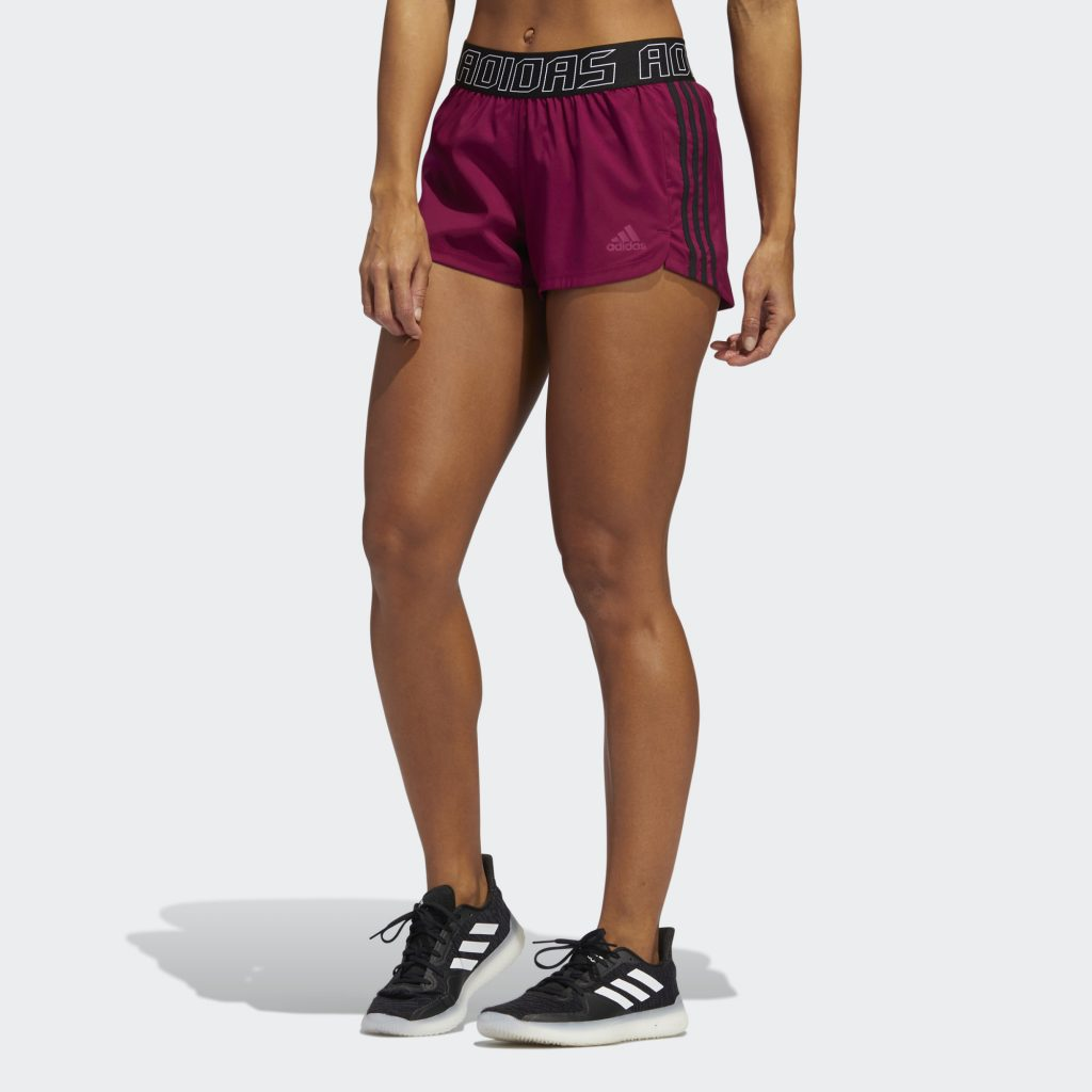 WOMEN'S PACER 3-STRIPES WOVEN HACK 3-INCH SHORTS