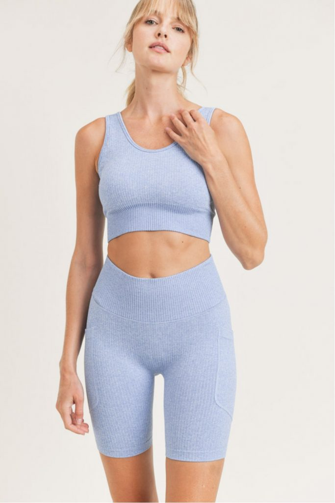 Seamless Hybrid Sports Bra