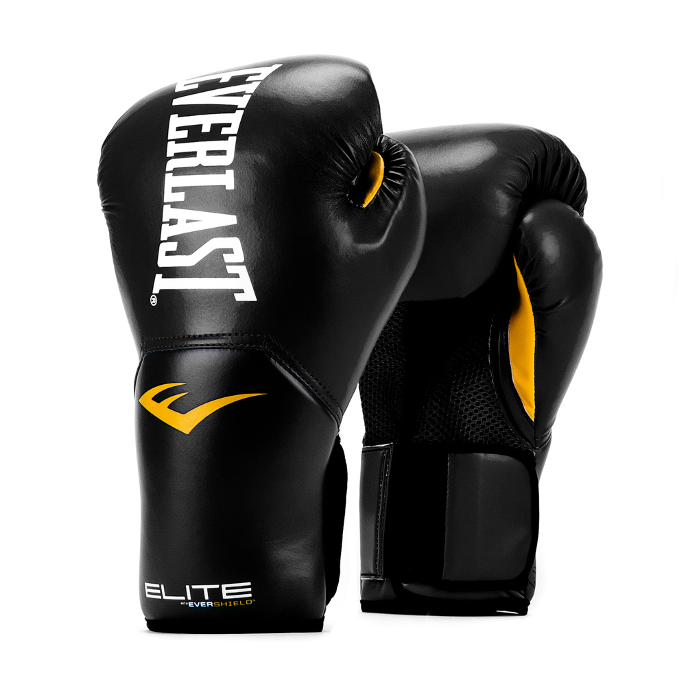 ELITE PRO STYLE TRAINING GLOVES 8 OZ. BLK
