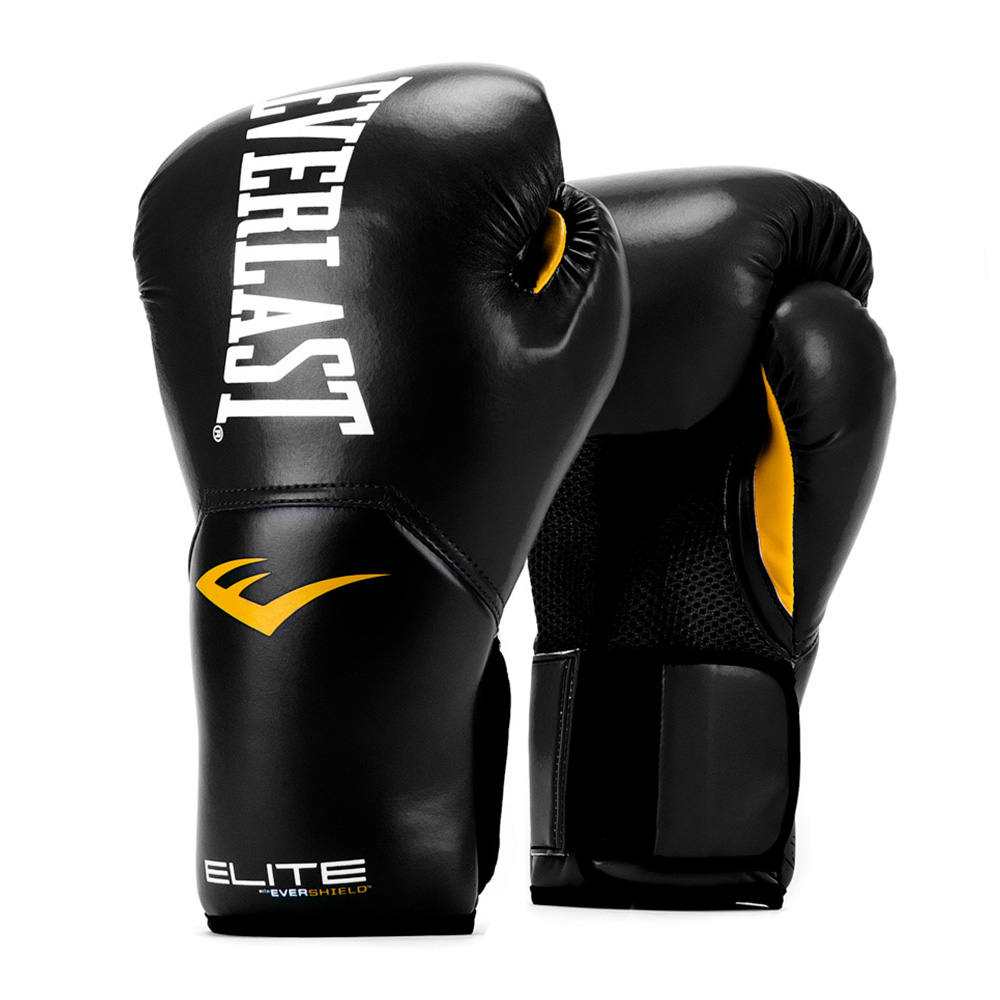 ELITE PRO STYLE TRAINING GLOVES 12 OZ. BLK