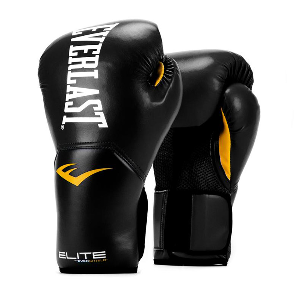 ELITE PRO STYLE TRAINING GLOVES 10 OZ. BLK