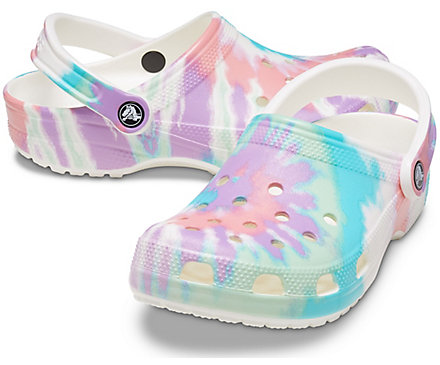 TIE DYE GRAPHIC CLOG