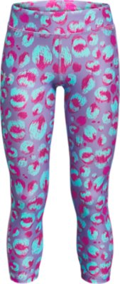 Under Armour Girls` HeatGear Armour Printed Ankle Crop