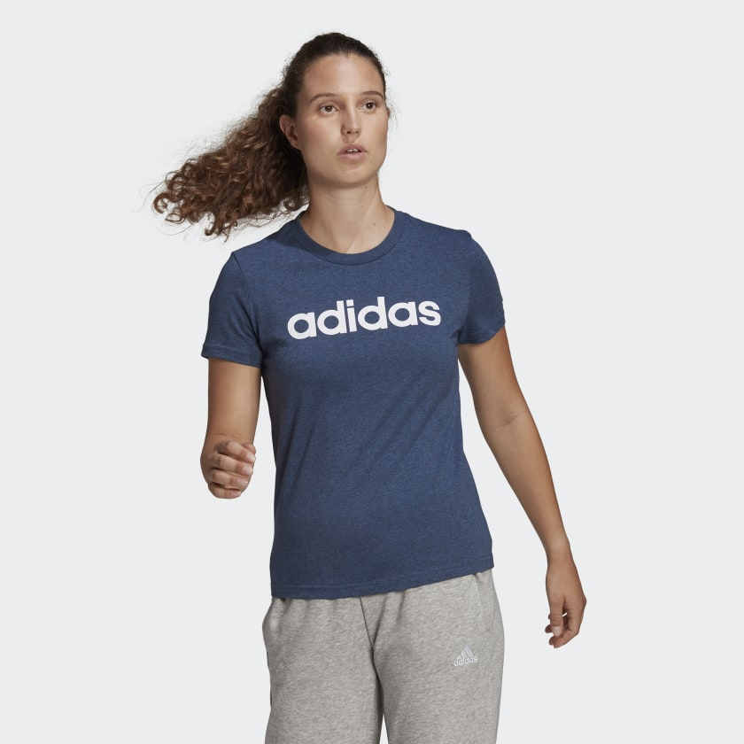ADIDAS ESSENTIALS SLIM LOGO T-SHIRT