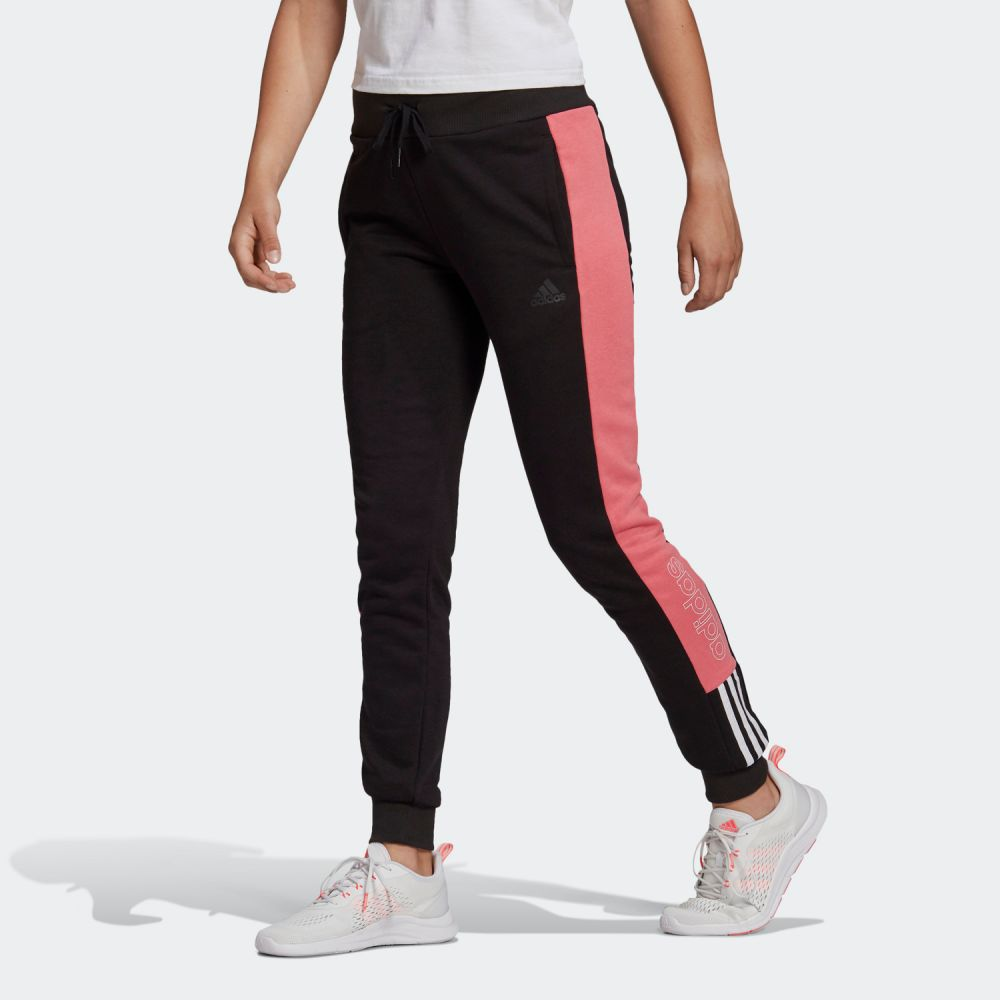 ADIDAS ESSENTIALS LOGO COLORBLOCK PANTS