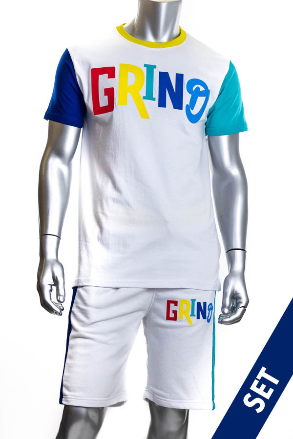 MEN'S 'GRIND' TEE & FRENCH TERRY SHORT SET