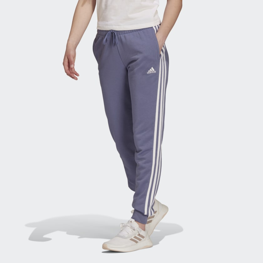 ESSENTIALS FRENCH TERRY 3-STRIPES PANTS